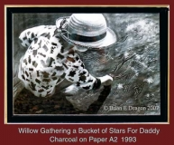 WILLOW GATHERING A BUCKET OF STARS FOR DADDY.
