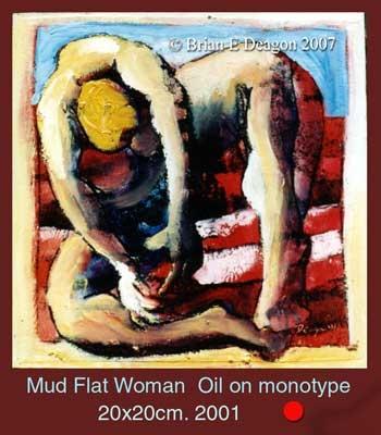 mud flat woman